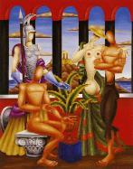 L'histoire d'Athènes, tableau de N. Engonopoulos